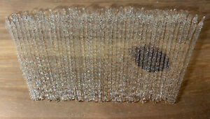 """44-VINTAGE CLEAR SPUN BLOWN GLASS ICICLE CHRISTMAS ORNAMENTS SWIRL TWIST 5"""""""