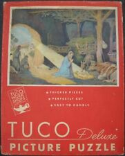 Vintage TUCO Deluxe religious jigsaw puzzle In The Manger COMPLETE