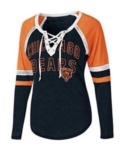 G-III Women's Chicago Bears Lace Up Backshot T-Shirt