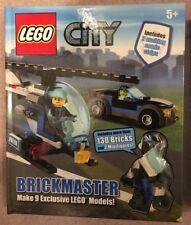 Entièrement neuf dans sa boîte LEGO BRICKMASTER City: Livre, mini figurines et véhicules Set Hélicoptère Voiture