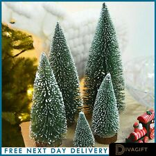Christmas Tree Xmas 7 PIECES With Wooden Stand Home Decor Holiday