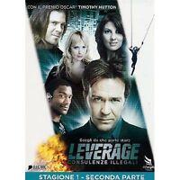 LEVERAGE- STAGIONE 1 SECONDA PARTE- DVD NUOVO SIGILLATO SLIP CASE