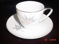 MIKASA JYOTO AQUILA PATTERN 4 COFFEE/TEA CUP AND 4 SAUCER (PLACE STGS AVAILABLE)