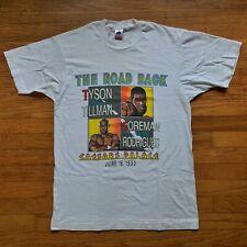 Mike Tyson Vintage The Road Back Boxing Shirt 1990 WBC WBF IBF George Foreman