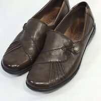 Cobb Hill Paulette Women's Brown Leather Slip On Loafer Shoes Size 7 M