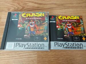 Crash Bandicoot 1 Ps1 Case And Booklet Only! No game included