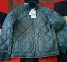 MEN BLACK DOCKERS PADDED FEATHER AND DOWN JACKET COAT SIZE M BRAND NEW WITH TAGS