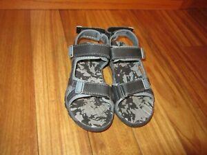 Sonoma Boys Eagle BLACK-GRAY Sport Sandals Size 1 Excellent #SHOE7