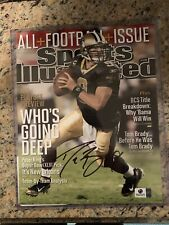 Drew Brees Autographed Sports Illustrsted Cover