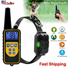 Dog Shock Training Collar Rechargeable Renmote Control Waterproof IP67 875 Yards
