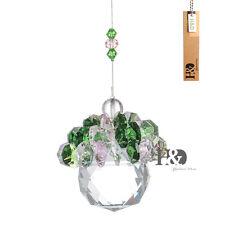 Green Purple Crystal Rainbow Maker Suncatcher Ball Prisms Hanging Pendants Decor