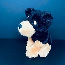 """New ListingHug & Luv Puppy Dog Plush Black Tan 11"""" Stuffed Mastiff Rottweiler Shimmer Lovey"""