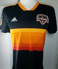 NEW WOMEN'S ADIDAS HOUSTON DYNAMO AUTHENTIC SHORT SLEEVE JERSEY MEDIUM