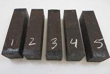 (5)  LOT OF  5,  INDIAN EBONY JET BLACK  WOOD TURNING BLANKS 1.5