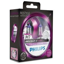2x Philips H7 Color Vision Purple Halógeno Púrpura 12972CVPPS2