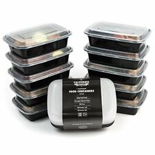 10 Meal Prep Food Storage Containers 1 Compartment Reusable Lunch Box STACKABLE