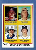 1978 Topps Rookie Pitchers Jack Morris RC Detroit Tigers NM to NM-MT Centered