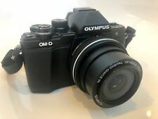 Olympus OM-D E-M10 Mark II Digital Camera Black with Twin Lens Kit