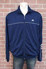 Adidas Men's Training 3 Stripes Navy & white Long Sleeve Track Jacket Size L