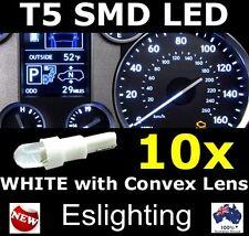 10X 12V T5 LED WHITE CAR WEDGE DASHBOARD DASH GAUGE LIGHT BULB 4WD UTE VAN TRUCK