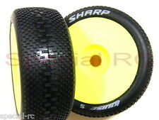 Louise RC 1/8 Sharp L-T3196VY Super Soft (2pcs) Premounted w/ Yellow Dish Wheel