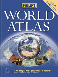 Philip's World Atlas paperback FREE SHIPPING