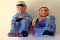 Rare Don Winslow of the Navy and Red Pennington Salt & Pepper Shakers c 1940s