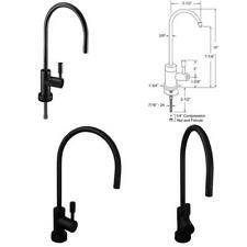 Contemporary 11 In. Single Handle Cold Water Dispenser Faucet In Matte Black