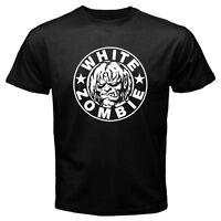 White Zombie Rob Zombie Logo Men's Black T-Shirt Size S-3XL 100% cotton