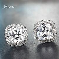 18K ROSE WHITE GOLD GF 18CT CRYSTAL FASHION STUD EARRINGS