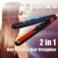 Mini Ceramic Electronic Hair Straightener Curling Iron Styling Tools 220V