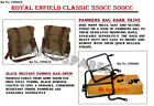 """Royal Enfield """"Dark Olive Color"""" Military Pannier & Fitting For Classic 350, 500"""