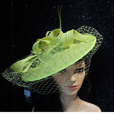 cf2bb8ff5c107 FAILS WORTH ZEST LIME GREEN WEDDING HAT DISC FASCINATOR MOTHER OF THE BRIDE