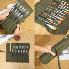 Rouleau Crayons Stylos Trousse Scolaire Pinceaux Peinture Rangement Pochette Sac