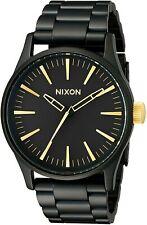 Nixon Men's Sentry 38 A4501041-00 38mm Black Dial Stainless Steel Watch