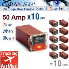 Fuses CARTRIDGE TYPE Female maxi 50A JCASE FMX AUTO CAR LED indicator GLOW Blown