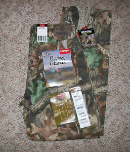 Wrangler Outdoor Gear Advantage Timber Camo Hunting Jeans Size 32x32