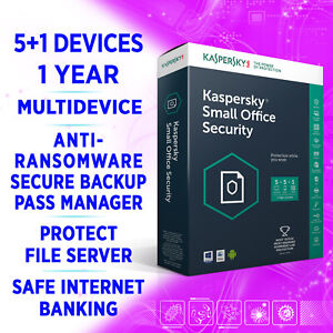 Kaspersky Small Office Security v8 5+1 devices 1 Year incl SERVER full edition