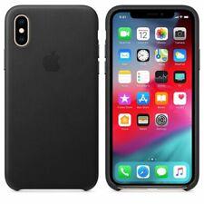 Genuine Original Official Apple iPhone X Leather Case Black