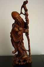 Ancienne sculpture statue bois CHINOIS