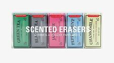 Kikkerland Set Of 5 Scented Erasers Flavoured Tea Box Carton Mini Pencil Rubber