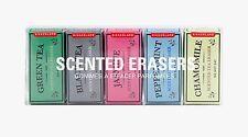 Kikkerland Set Of 5 Scented Erasers Flavoured Tea Box Carton Mini Pencil Rubber