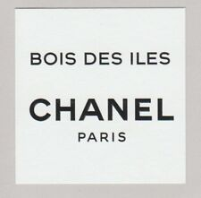 Carte à parfumer - perfume card  - Bois des Iles de Chanel