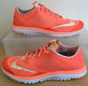 Ladies Womens NIKE FS Lite Run 2 Orange Running Shoes Trainers UK Size 5 EU 38.5