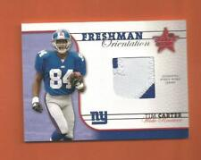 2002 ROOKIES AND STARS RC TIM CARTER PATCH #d 363/650 NEW YORK GIANTS