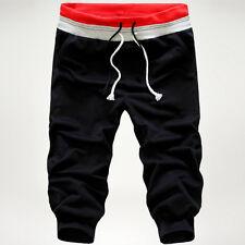 Summer Boys Mens Gym Sports Jogging Cotton Shorts Trousers Casual Half Pants US