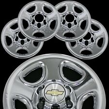 "Set of 4 Chevy 1500 6 Lug 16"" Chrome Wheel Skins Rim Simulators Hub Caps Covers"