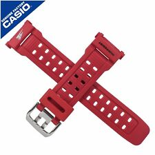 Genuine Casio Leather Watch Strap Band for G-9000TLC-4V G 9000TLC 9000 RED