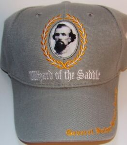 CONFEDERATE GENERAL NATHAN B FORREST CAP - NEW EMBROIDERED GRAY HAT