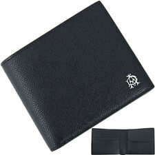 New Auth DUNHILL Billfold wallet CADOGAN Leather Black Men Purse